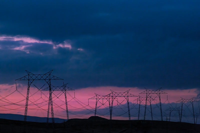 twilight power lines